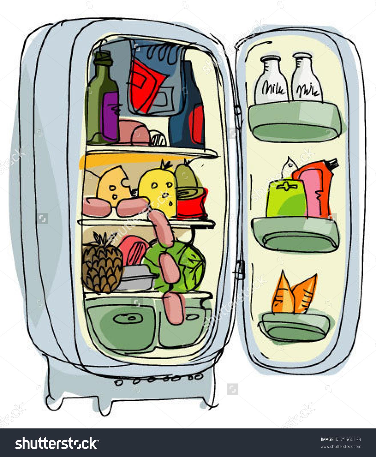 Full refrigerator clipart.