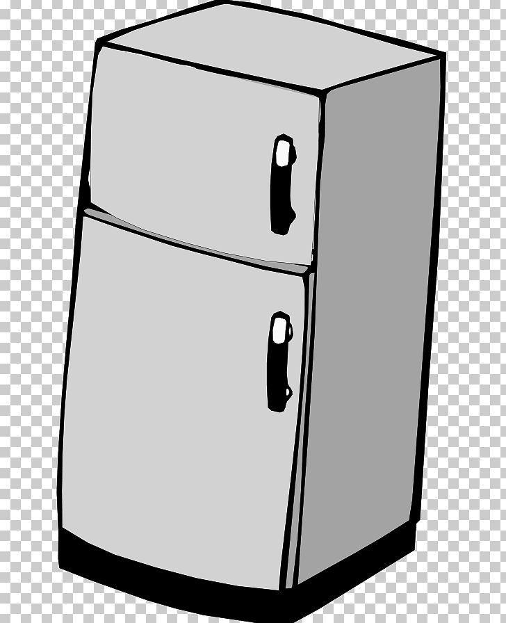 Refrigerator clipart black and white, Refrigerator black and.