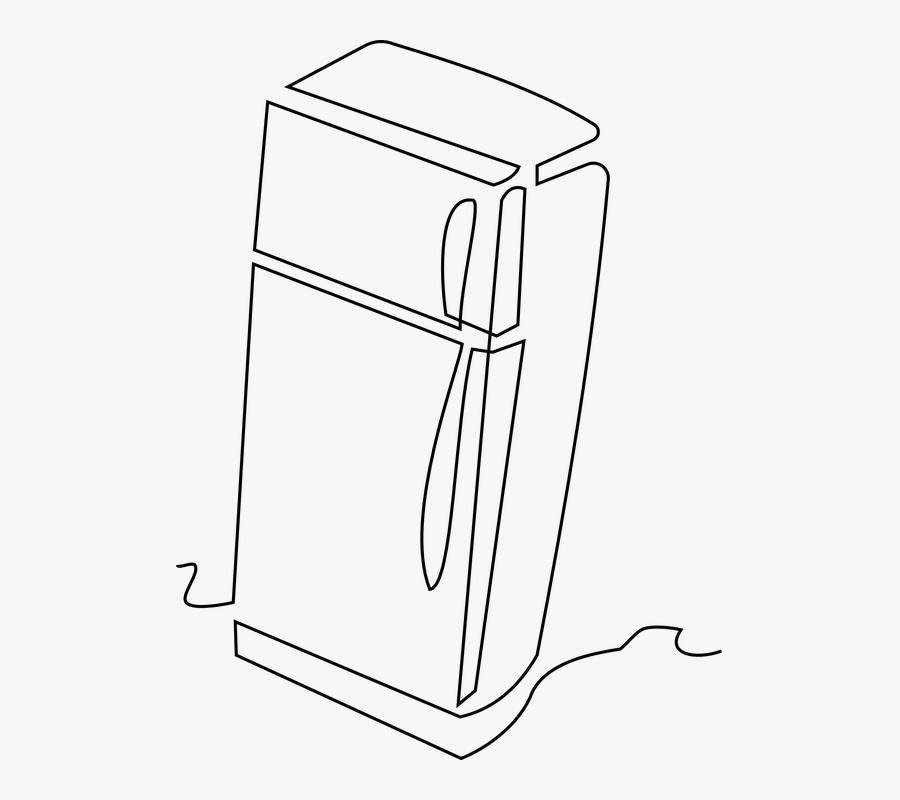 Refrigerator, Kitchen, Clipart.