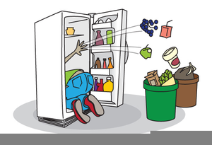 Smelly Refrigerator Clipart.