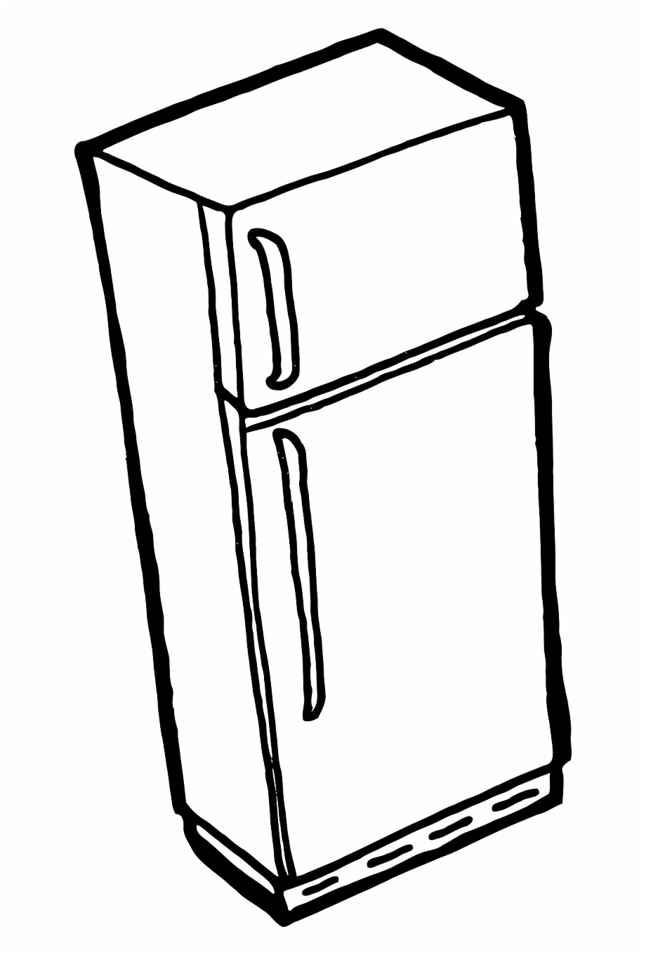 Refrigerator Fridge Freezer Cold Png Image.