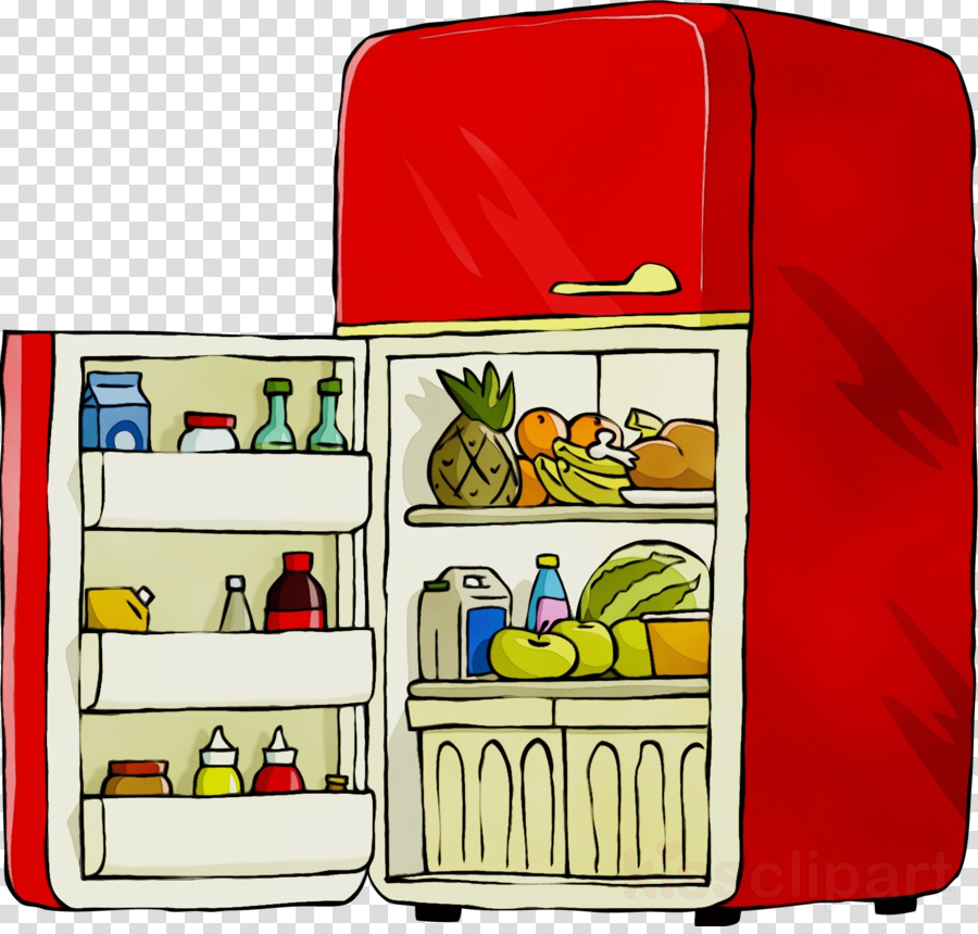 suitcase baggage rectangle refrigerator clipart.