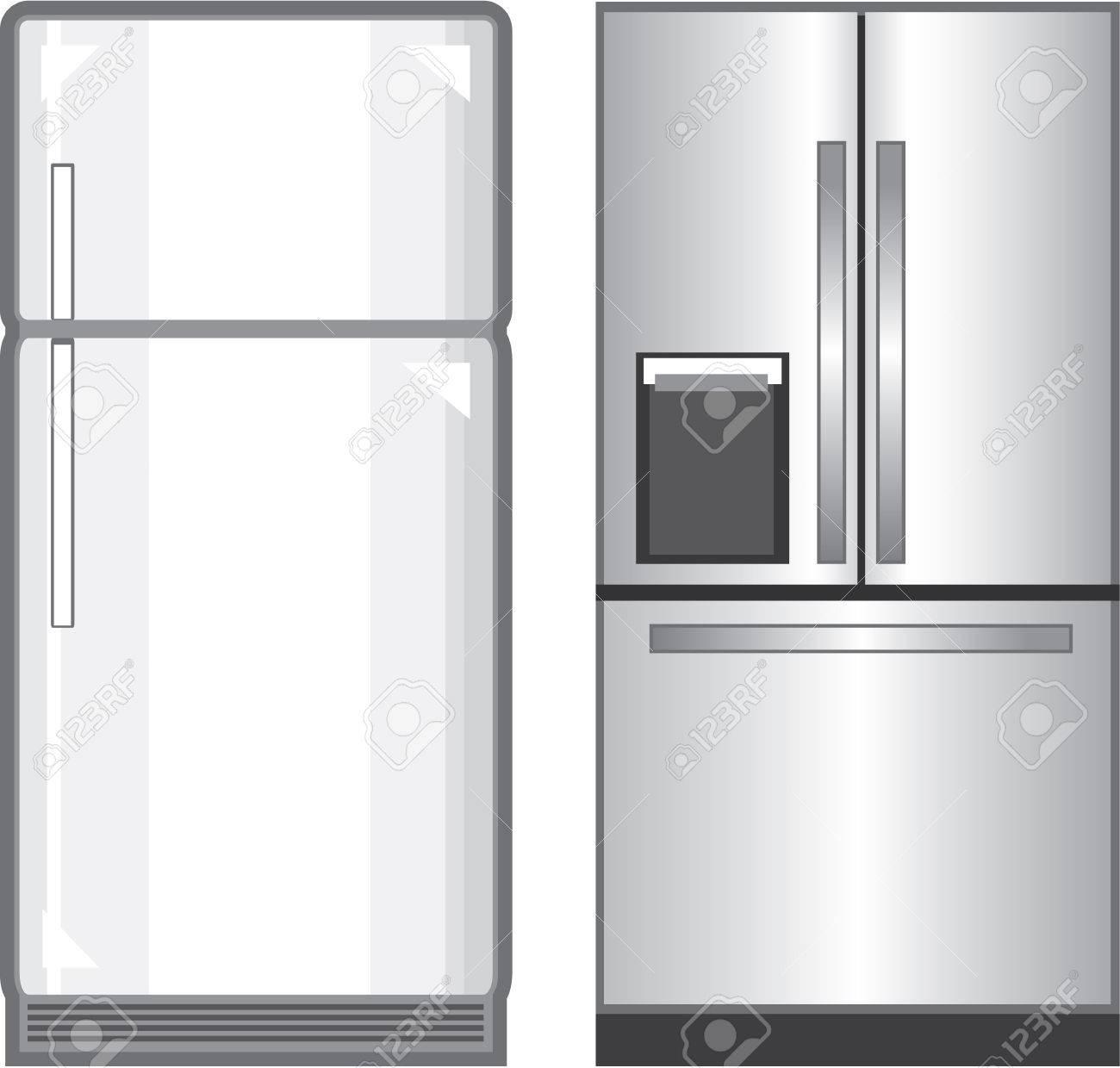 Refrigerator illustration clip.
