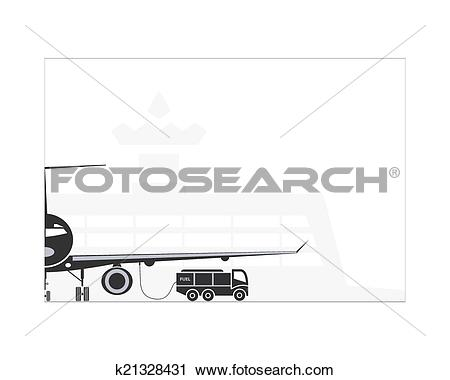 Clipart of Refueling the plane k21328431.
