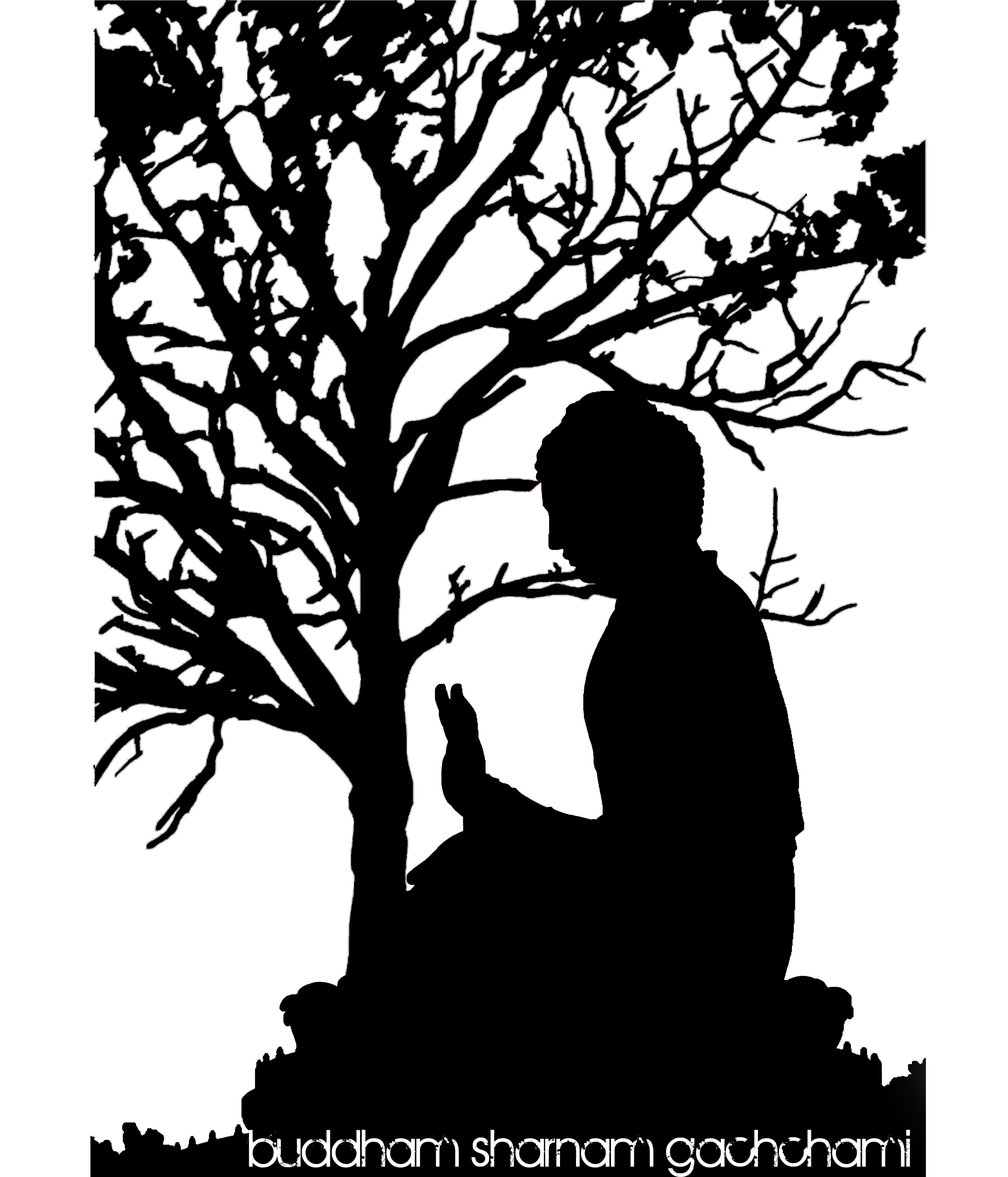 BUDDHAM SARNAM GACHCHAMI I go to the Buddha for refuge. Dhammam.