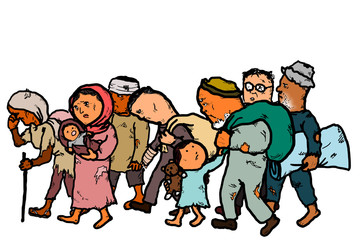 Refugees Clipart.