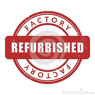 Factory Refurbished Rubber Stamp Royalty Free Stock Photo.