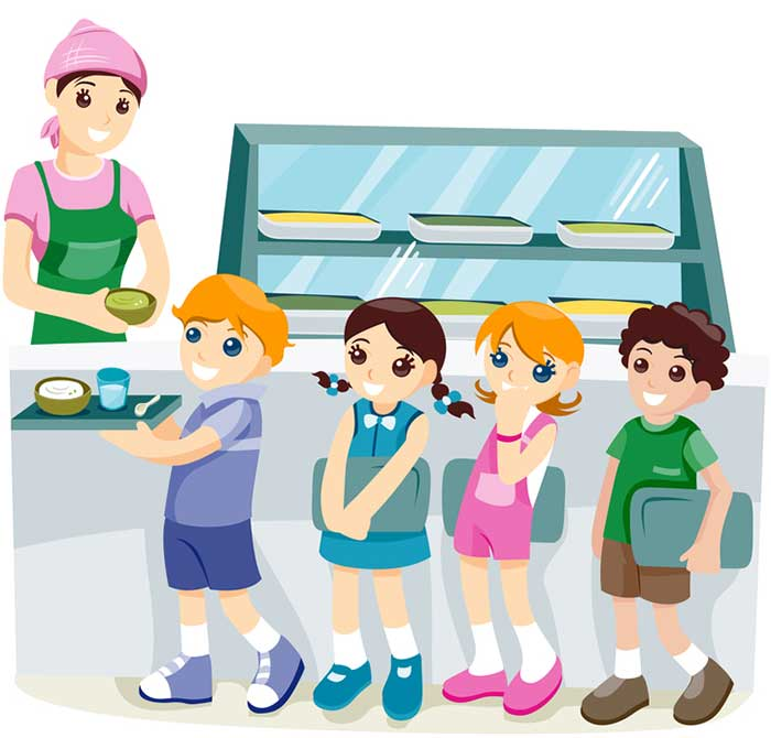 Canteen Helper Clipart.