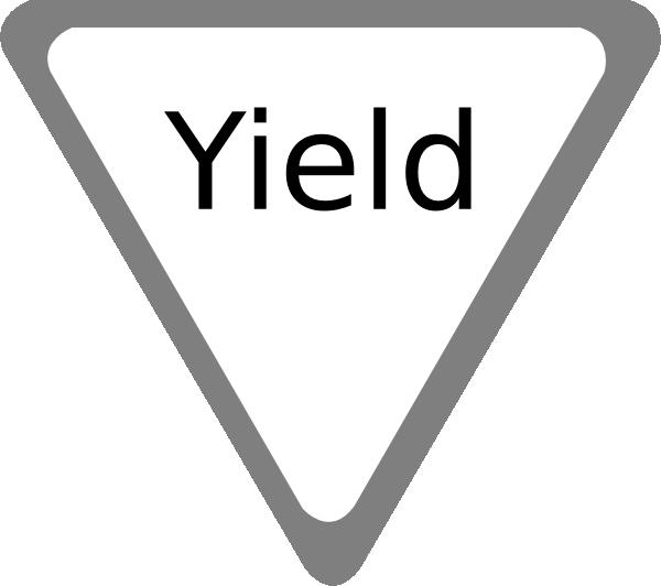 Yield Clip Art At Clkercom Vector Online.