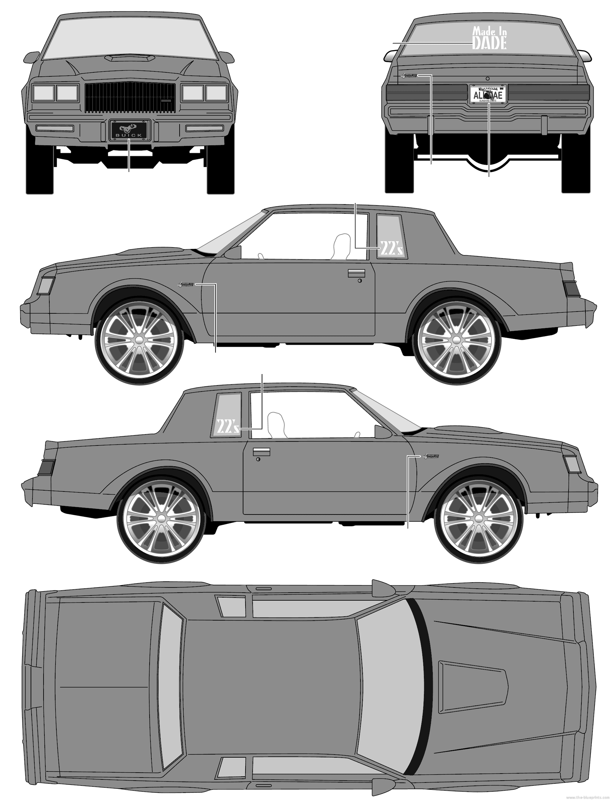 Donk Car Clipart.
