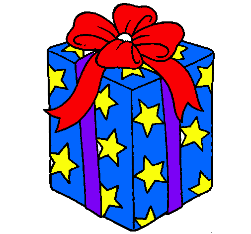 Christmas Gift Drawing clipart.