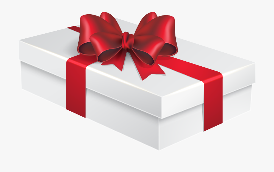 White Gift Box Png Clipart Image.