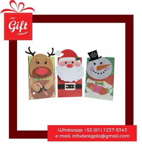 Bolsas de regalo para navidad, bolsa de regalo navideña.