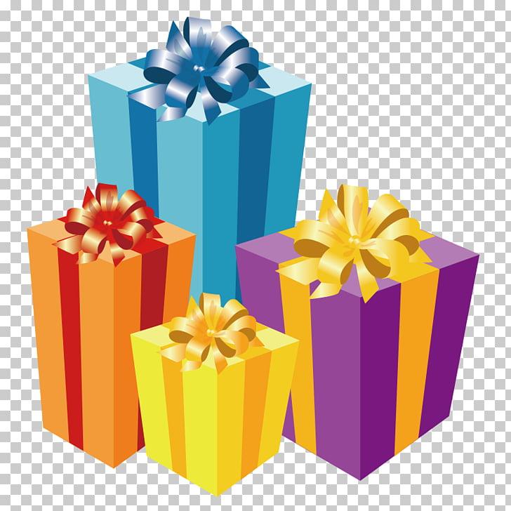 Ilustración de cajas de regalo surtidas, regalo de navidad.