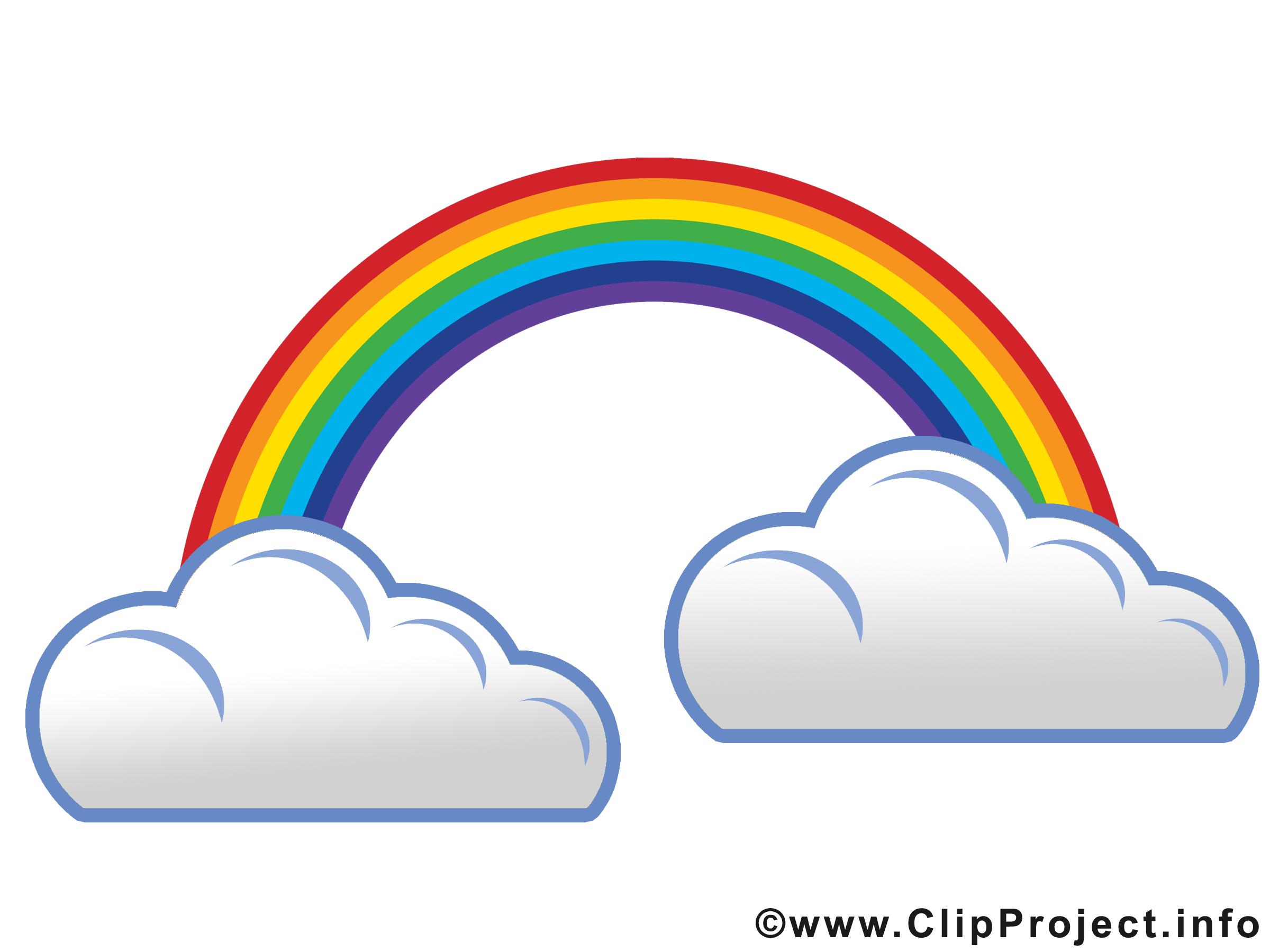Regenbogen und Regenwolken Image.
