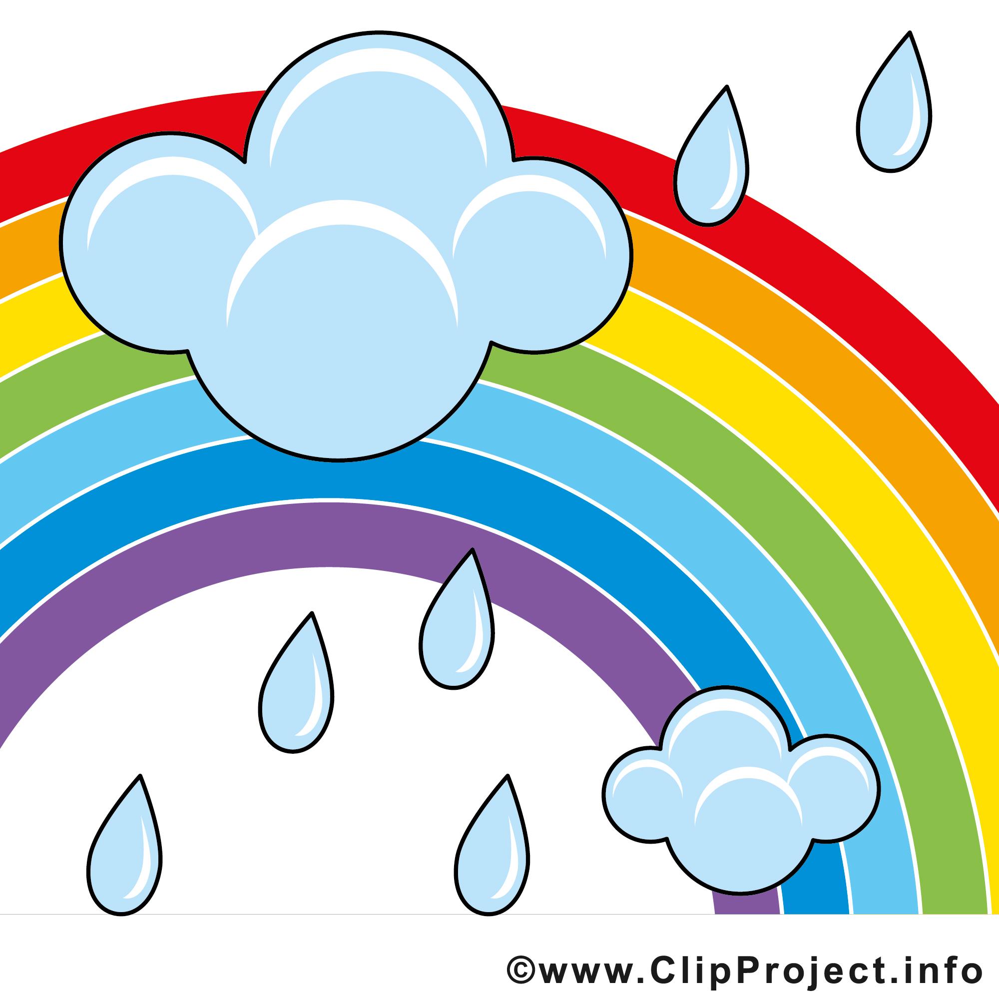 Regenbogen und Regenwolgen Bild.