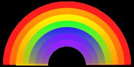 Regenbogen cliparts, kostenlose clipart.