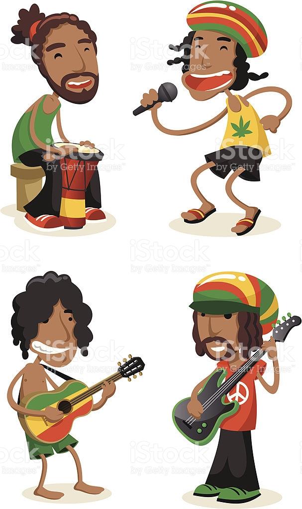 Reggae Music Clipart.