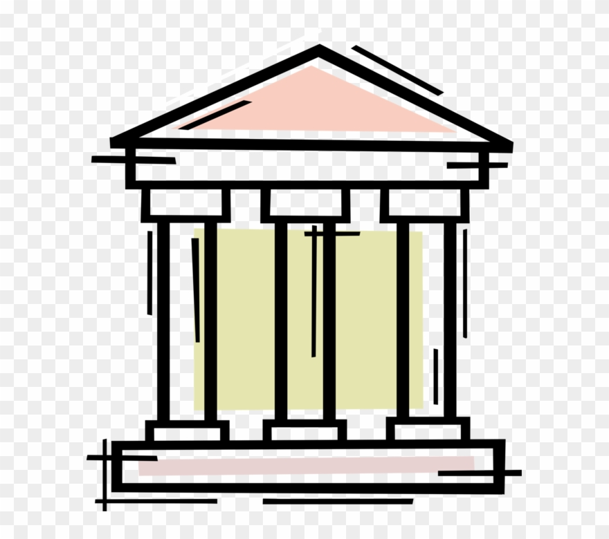 Vector Illustration Of Financial Banking Institution.