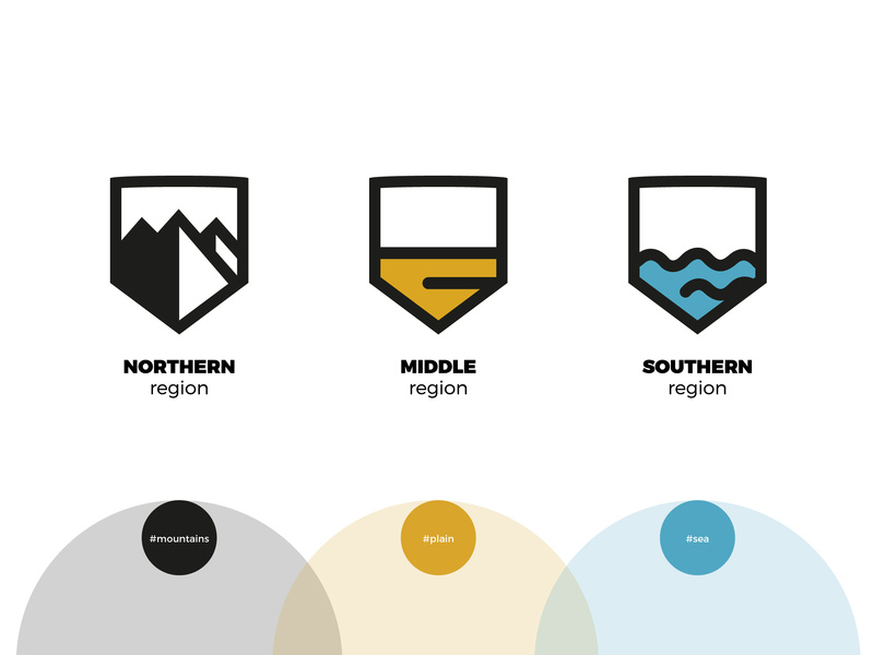 Montenegro regions by markol on Dribbble.