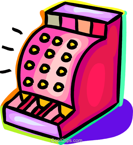cash register Royalty Free Vector Clip Art illustration.