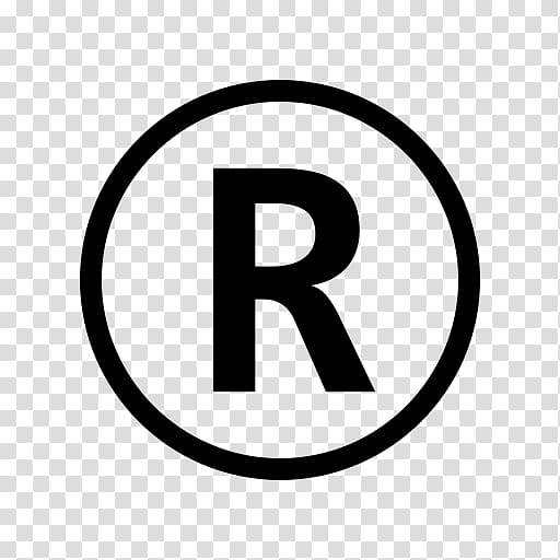Registered trademark symbol Copyright, copyright transparent.