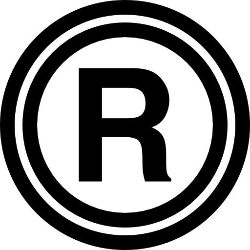 Registered sign Icons.