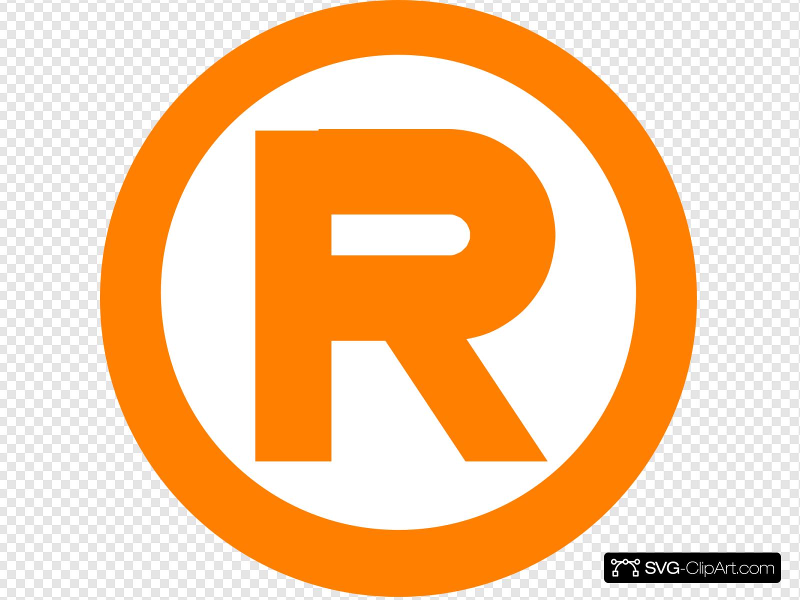 Orange Registered Mark Clip art, Icon and SVG.