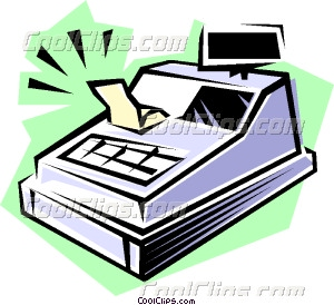 Cash register Vector Clip art.