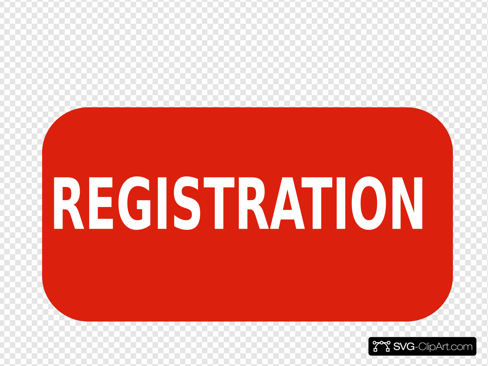 Registration Red Sign Clip art, Icon and SVG.
