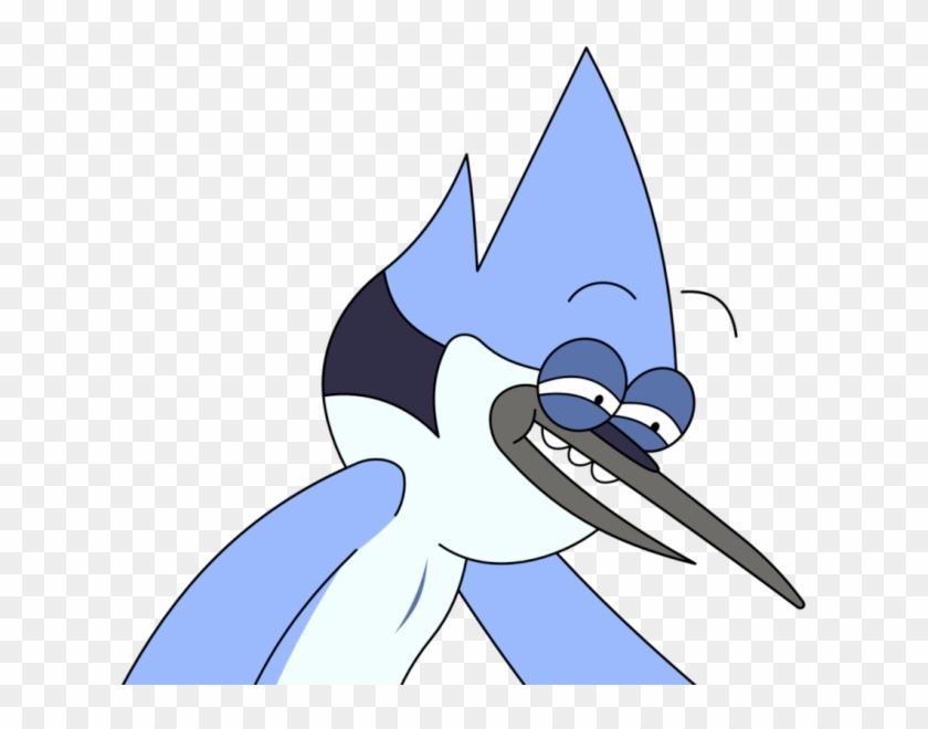Mordecai Regular Show Face , Png Download.