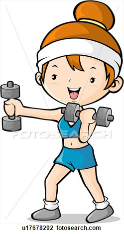 Exercise Regularly Clip Art.