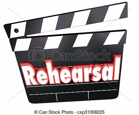 Rehearsal Clipart.