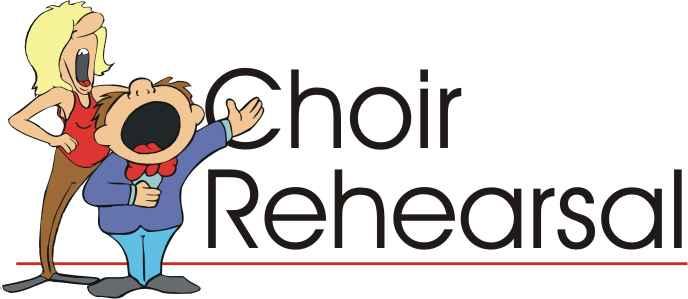 Choir Rehearsal Clipart.