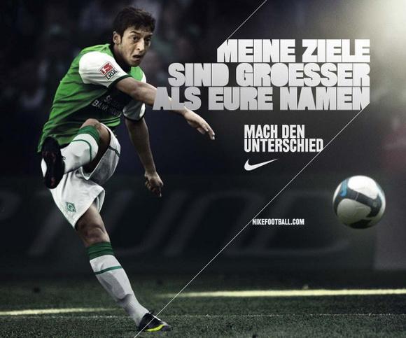 Nike ad featuring Mesut Özil.