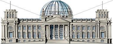 Reichstag in Berlin Germany.