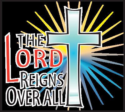 Image: He Reigns Cross Image.
