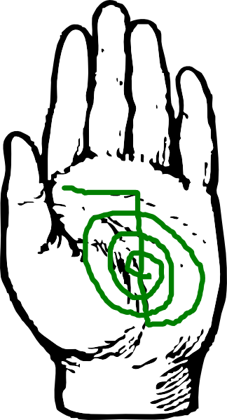 Healing Hand With Reiki Symbol Clip Art at Clker.com.