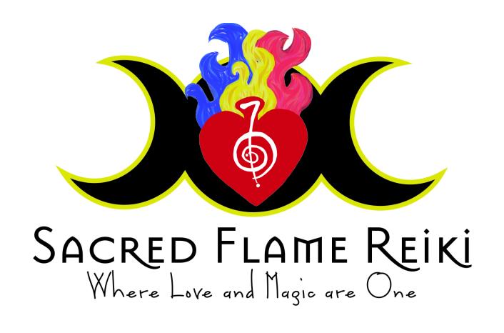 Sacred Flame Reiki Logo.