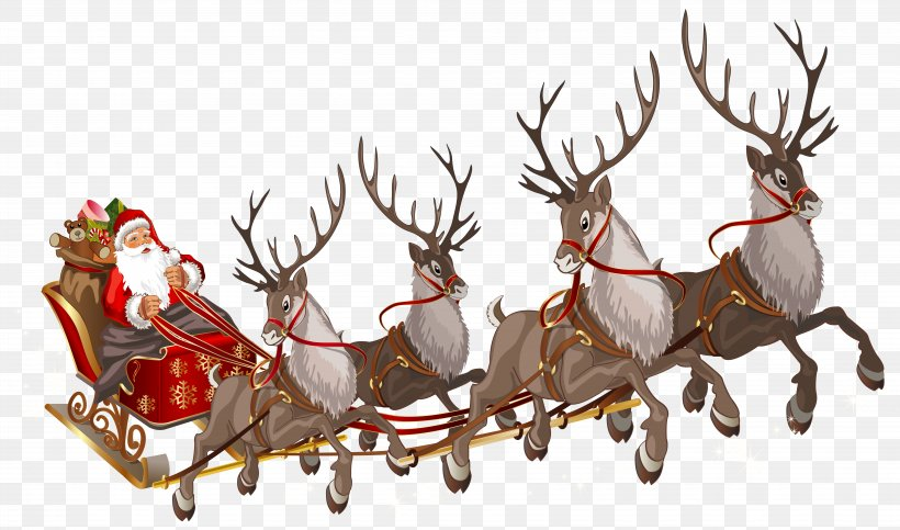 Santa Claus\'s Reindeer Santa Claus\'s Reindeer Rudolph, PNG.