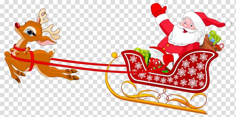 Santa Claus\\\'s reindeer Sled , Deer pulling Santa\\\'s sleigh.