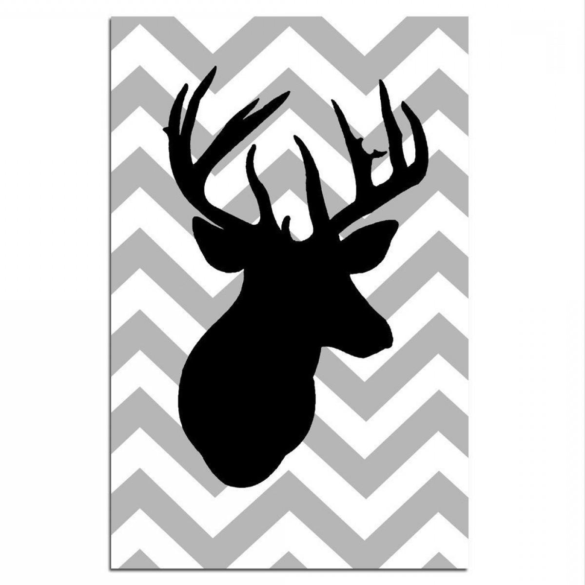 Free Deer Antler Silhouette Skull Teacher Clipart.