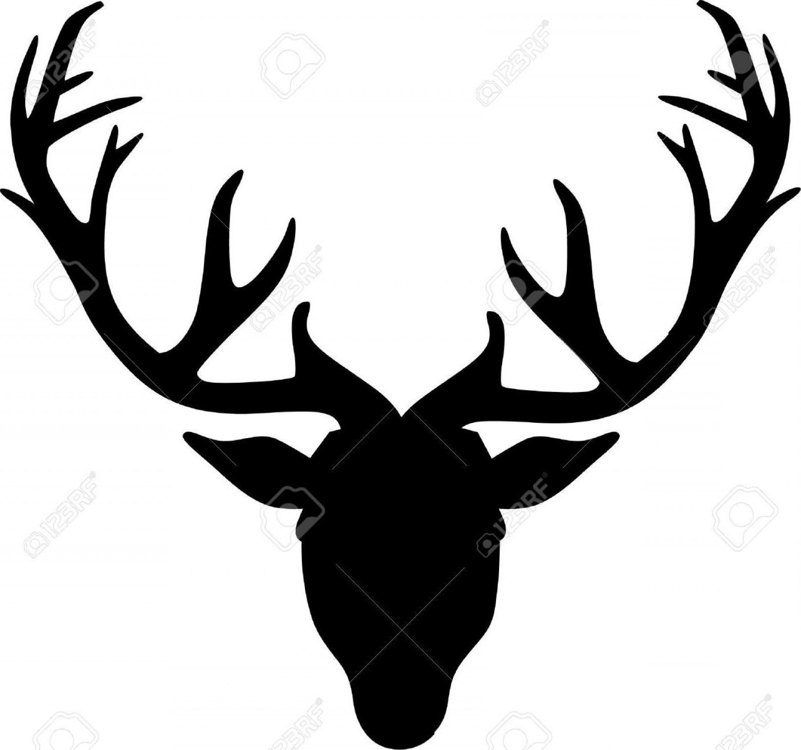 Top Free Deer Antler Silhouette File.