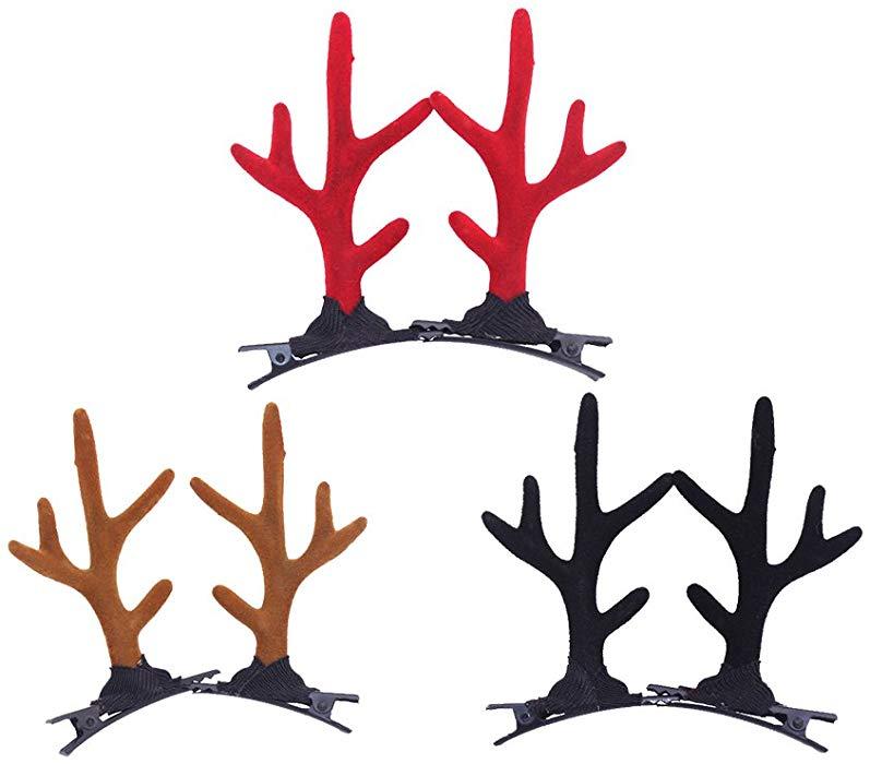 Amazon.com: CHUANGLI 3 Pair Elk Ears Headband Reindeer.