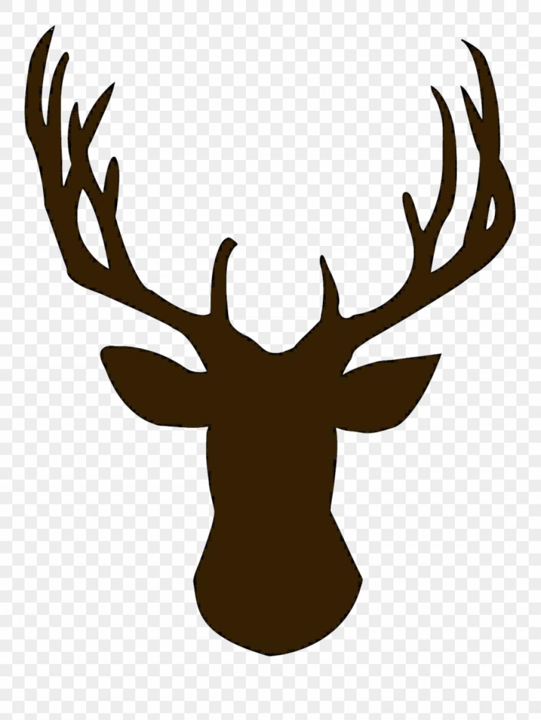 Deer Head Silhouettes Reindeer Antlers Clipart Deer Clip Art.