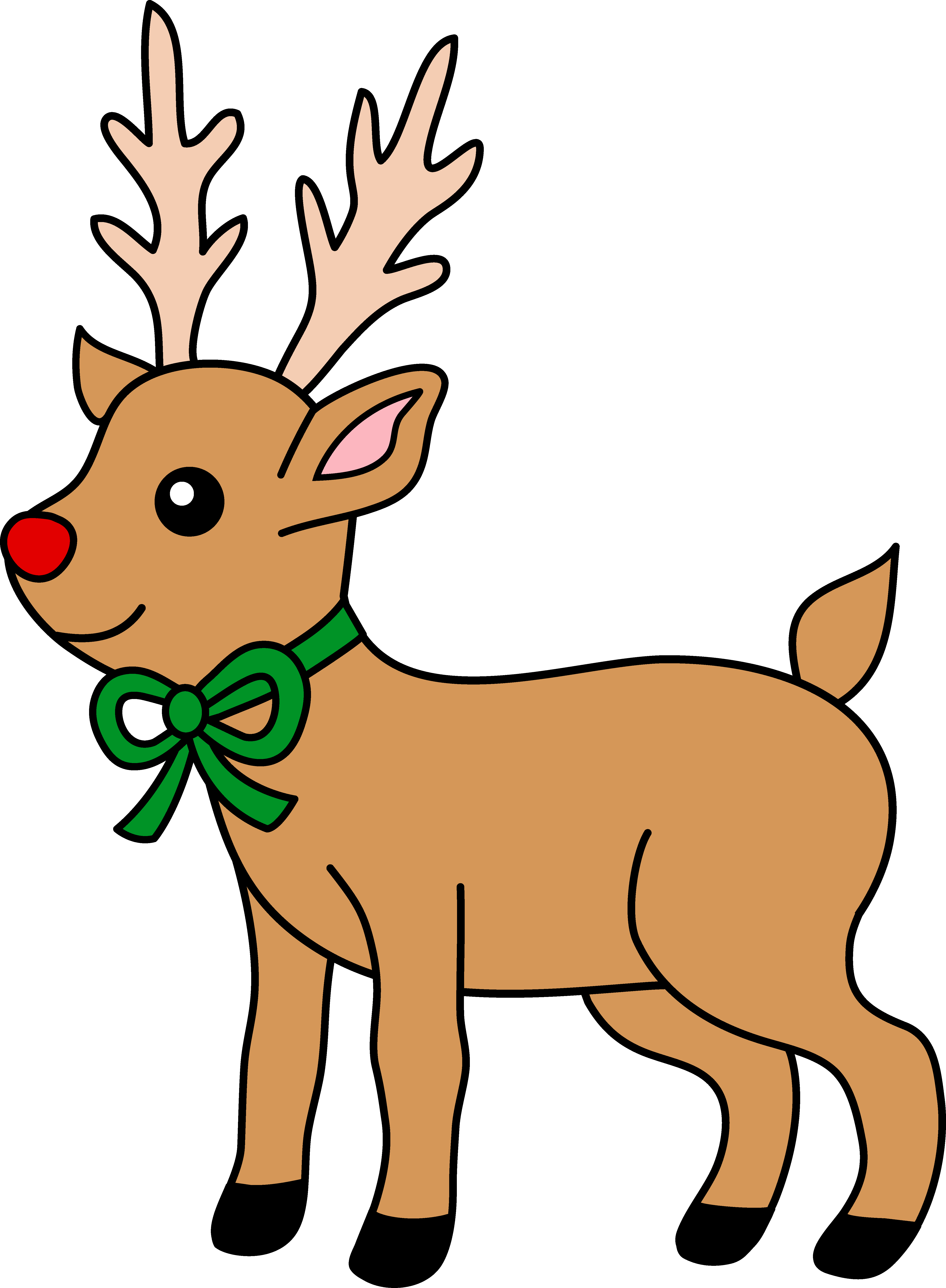 Cartoon Reindeer Clipart.