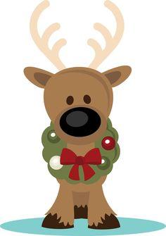 reindeer christmas clipart #8