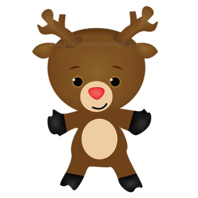 reindeer christmas clipart #15