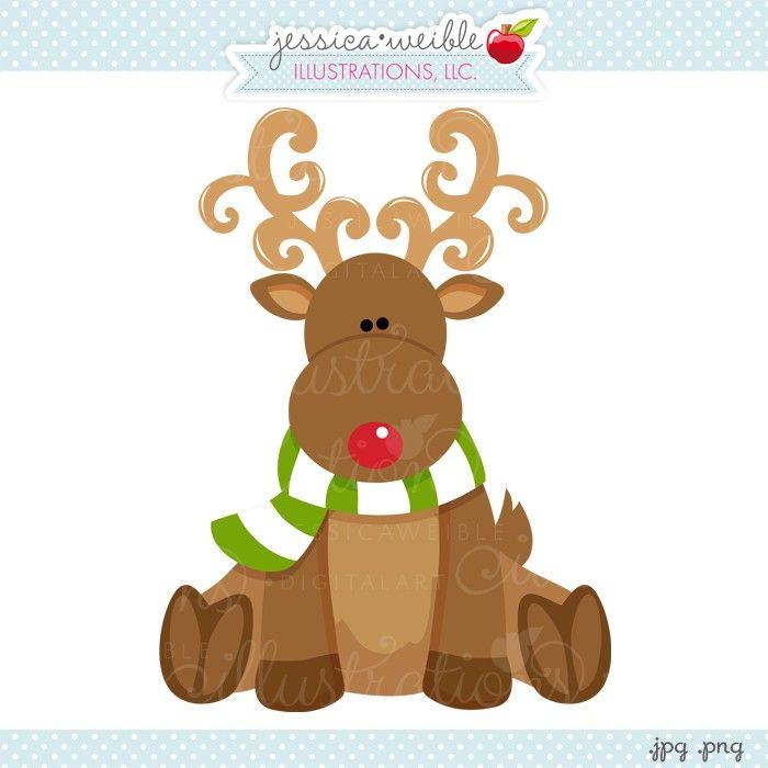 reindeer christmas clipart free #6