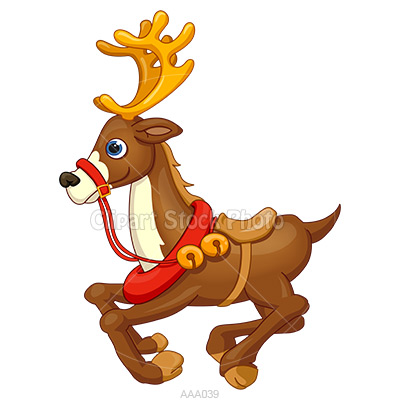 Showing post & media for Cartoon christmas reindeer clip art.